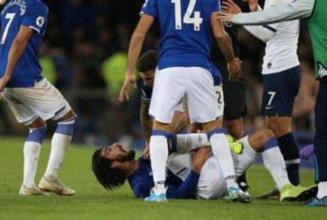 Жуткая травма Гомеша в матче «Эвертон» – «Тоттенхэм»: Сон Хын Мин расплакался (фото, видео)