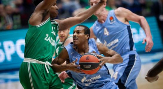 Баскетбольный «Зенит» обыграл «Жальгирис» в овертайме матча Евролиги
