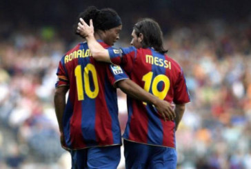 Пас Роналдиньо, удар, гол! 15 лет назад Месси впервые забил за «Барселону» (видео)