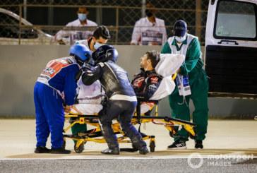 Grosjean crash: Haas F1 driver to remain in h