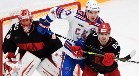 СКА разгромил «Спартак» и гарантировал себе место в плей-офф КХЛ